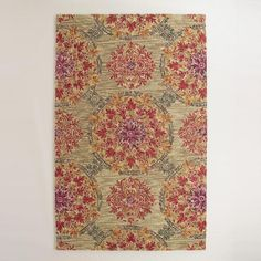 One of my favorite discoveries at WorldMarket.com: Coral Medallion Tufted Wool Juliana Area Rug