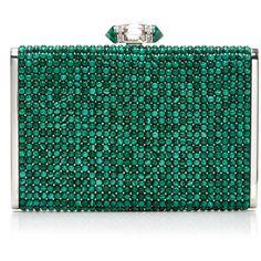 Malachite Bespoke Clutch | Moda Operandi (576.120 RUB) ❤ liked on Polyvore featuring bags, handbags, clutches, green clutches, green purse and green handbags