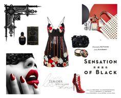 """Sensation of Black"" by johannamaria37 ❤ liked on Polyvore featuring Vision, Emanuel Ungaro, Giuseppe Zanotti, Anna Sui, Alexander McQueen, Accessorize, GiuseppeZanotti, minidress and annasui"