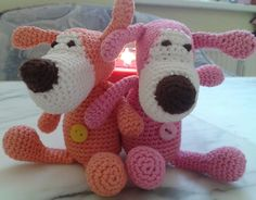 Ravelry: Project Gallery for Dog Buffy Amigurumi toy pattern by LittleOwlsHut