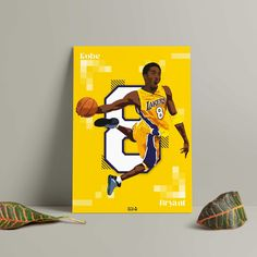 Kobe Bryant poster print of the basketball legend by GraphicGaff on Etsy