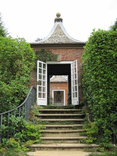 Red brick houses at Hidcote Manor