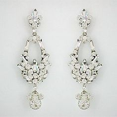 Erin Cole Bridal Crystal Chandelier Earrings, Art Deco Wedding  Earrings & Cocktail Party Earrings. Spectacular. Breathless. Find your style at Perfect Details.