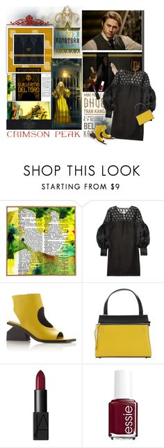"""""""Indulge Your Dark Side with Crimson Peak : Contest Entry"""" by traceygraves ❤ liked on Polyvore featuring Universal Lighting and Decor, Gucci, Marni, CÉLINE, NARS Cosmetics, Essie and vintage"""