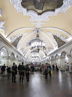 Metrostation Moscow, Russia.  Photo by Lars Bemelmans