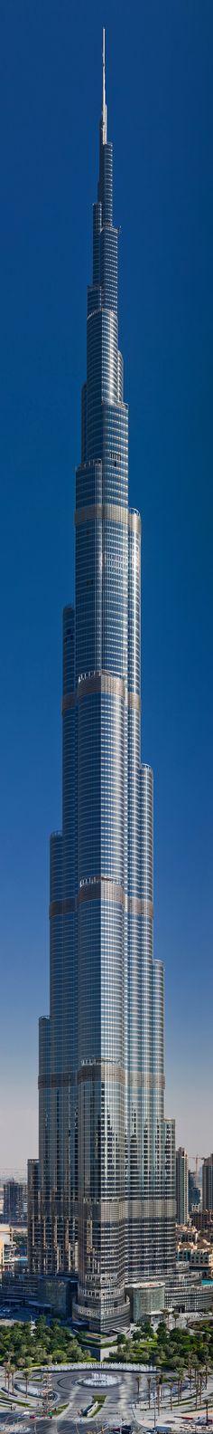 "Burj Khalifa skyscraper - Dubai - United Arab Emirates - Burj Khalifa (Arabic: برج خليفة, ""Khalifa tower""), known as Burj Dubai prior to its inauguration, is a skyscraper in Dubai, United Arab Emirates, and is the tallest man-made structure in the world, at 829.8 m (2,722 ft)."