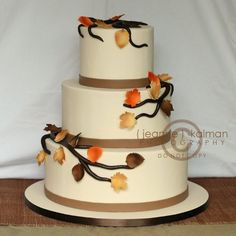 1000 Images About Fall Wedding Cakes On Pinterest