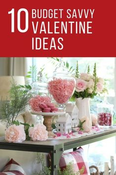 10 Simple Savvy Ideas for Budget Valentine's Day Decor - The Design Twins share their outside the box Valentine's Day decor ideas. Enjoy these decorating tips that are big on creativity, easy on the budget and pack a festive punch! Valentine Box, Valentines Day Party, Valentines Day Decorations, Valentine Day Crafts, Valentine Ideas, Valentines Day Tablescapes, Saint Valentin Diy, Valentines Bricolage, Holiday Parties