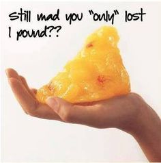 """This is what one pound of fat looks like... can't be so hard on myself when I """"only"""" lose 1 pound"""