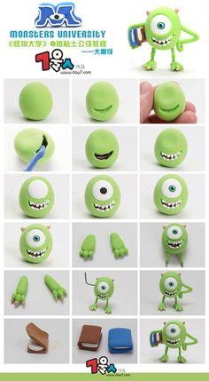 Monster & Co Mike fondant figurine tutorial. #lamay http://www.bidorbuy.co.za/seller/1047710/La_May_Variety
