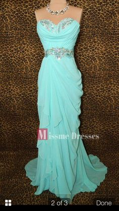 2014 Mermaid Blue Prom Party Dresses Women Long Beading Formal Evening Gowns