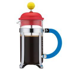 Kaffebryggare 3 Koppar, Röd/Gul, Bodum