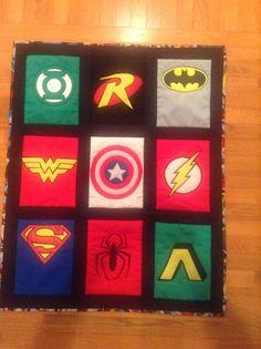 Super hero logo quilt- 10/11/13