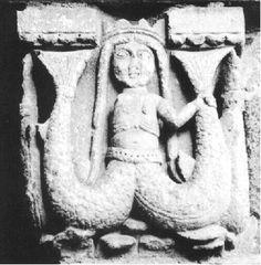 Melusine, kapiteel Porche du For, Notre Dame, Le puy