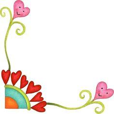 Bordes para tarjetas de flores