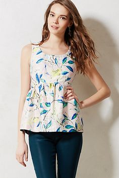 Brocade Peplum Top #anthropologie