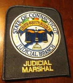 Connecticut Judicial Marshal Patch - Police Law Enforcement Collectible