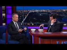 #TomHanks And Stephen Colbert Eat Lucky Charms With Baileys On #LSSC