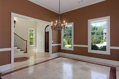 Formal Dining room - brown paint