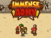 Today make no hesitancy to land on Immense Army  a strategy action game! It gives all players a chance to become a smart leader who is in charge of controlling an unstoppable army. Get ready to take up the big role?