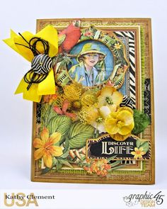 Discover Life Pocket Card Snapguide Tutorial  by Kathy Clement Graphic 45 Safari Adventure