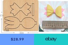 Fishtail bow Die cutting Wooden Die Fits Big shot Pro sizzix decorate YT Hair Ribbons, Diy Hair Bows, Diy Bow, Bow Template, Templates, Fishtail Hairstyles, Felt Hair Clips, Bow Earrings, Bow Accessories