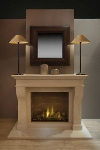 Kalfire fairo 75 - gashaard Fireplace Mantle, Living Room With Fireplace, Fireplace Design, Annex Ideas, Cosy House, Wine Bucket, Home Decor Bedroom, Decoration, New Homes