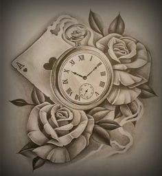 Rosa y reloj