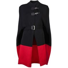 MCQ BY ALEXANDER MCQUEEN Long cape ($670) ❤ liked on Polyvore