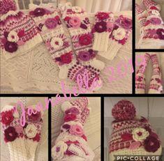 Kukkasettiä,sukat,pipo ja lapaset/flowersocks,flowerbeanie and flowermittens Crochet Necklace, Handmade, Jewelry, Fashion, Moda, Hand Made, Jewlery, Jewerly, Fashion Styles