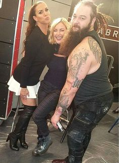 Bray Wyatt, Renee Young, Stephanie McMahon