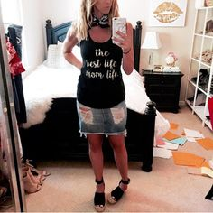 1108 Boutique Mom Life Tank worn by The Parlor Girl