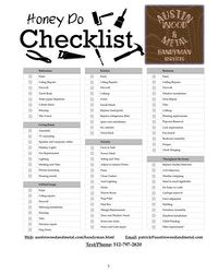 Austin Wood and Metal honey do checklist - Modern Lawn Care Business Cards, Business Tips, Repair Ceilings, Home Repair Services, Home Maintenance Checklist, Handyman Projects, Lesson Planner, Diy Scrub, Cleaning Business