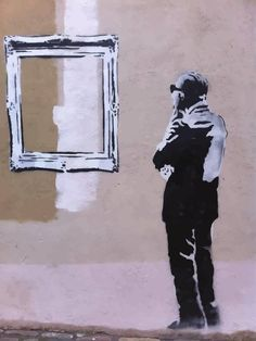 BANKSY Street Art Banksy, Banksy Graffiti, Bansky, Stencil Art, Stencil Graffiti, Art Mural, Street Artists, Urban Art, Rock Art