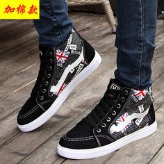 Multicolor Cheap Platform Winter Shoes Men England Flag Ankle Flat Heel New Arrival 2015 Chukka Mens Boots Casual High Top