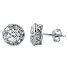 1.20 CTW Vintage Heirloom Stud Earrings – Jewelure