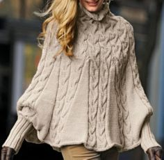 Poncho with Sleeves