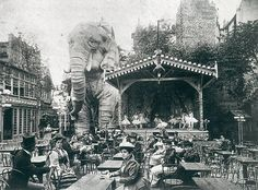 Moulin Rouge, Paris. 1890s. The elephant is phenomenal.