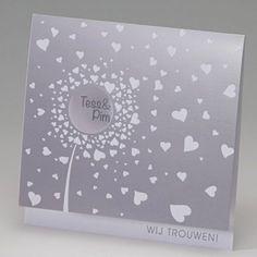 Trouwkaart Love is in the air