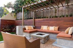 Garden Seating Ideas Backyard Fire Pits Built Ins 48 Ideas Garden Seating, Terrace Garden, Outdoor Seating, Outdoor Rooms, Outdoor Living, Outdoor Decor, Backyard Seating, Outdoor Furniture, Backyard Retreat
