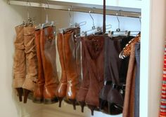 If only my clothes didn't use up all the rods in my closet... I LOVE how neat and tidy this is!