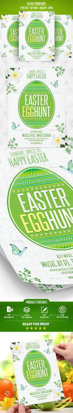 Easter Egg Hunt Flyer Pinterest Event flyers, Flyer template and