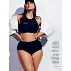 The Body Issue Ashley Graham ❤ liked on Polyvore featuring ashley graham and plus size