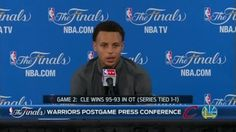 Steph Curry thinks both teams believe they should be up 2-0 in the NBA Finals