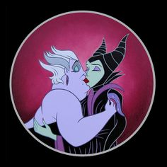 Same-Sex Disney Couples Live Happily Ever After Ursula and Maleficent – The Frisky Disney Punk, Dark Disney, Disney Parody, Disney Go, Disney Couples, Disney Cartoons, Disney Pixar, Ursula Disney, Evil Disney