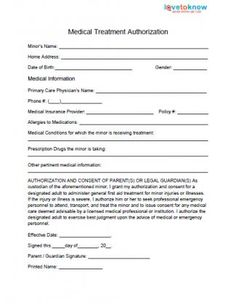 Free Printable Medical Consent Form | Free Medical Consent Form ...