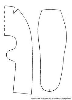 Patrones para hacer zapatitos de tela para bebe01