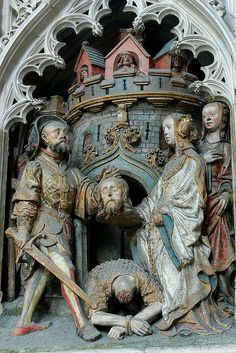 Relief depicting the Life of John the Baptist, Amiens Cathedral, c. 1531    http://professor-moriarty.com/info/en/section/sculpture/gothic-sculpture-life-john-baptist-amiens-cathedral