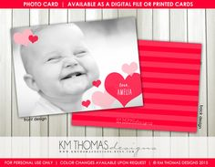 Flutter of Hearts Printable Valentine's Day by KMThomasDesigns