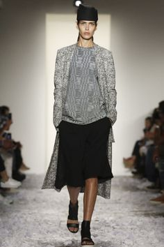 Public School Ready To Wear Spring Summer 2015 New York This outfit tells me something: Dao-Yi Chow and Maxwell Osborne, who collectively form Public School, were actually quite smart to make their women's line very loose and oversized. Their apparel can be worn that way and unadorned, or; put on a waist-defining belt, tuck the shirt in and/or rock some jewelry. But definitely wear less clunky shoes.